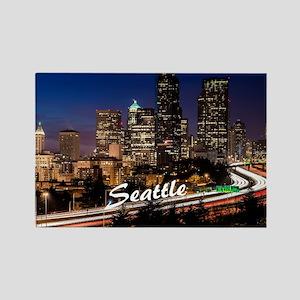 Seattle_10X8_puzzle_DowntownSeatt Rectangle Magnet