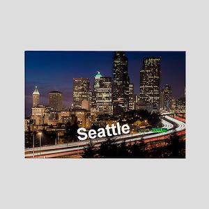 Seattle_2x3_magnet_DowntownSeattl Rectangle Magnet
