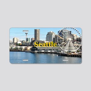 Seattle_5x3rect_sticker_Sea Aluminum License Plate