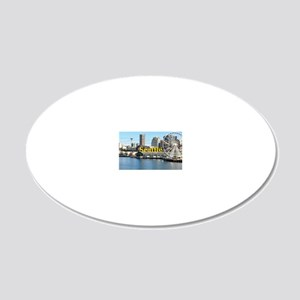 Seattle_5x3rect_sticker_Seat 20x12 Oval Wall Decal