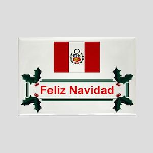 Peru Feliz Navidad Rectangle Magnet