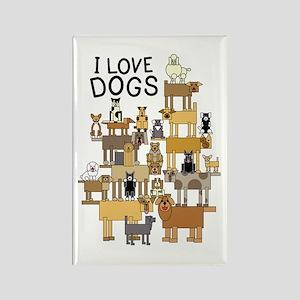 I LOVE DOGS Rectangle Magnet