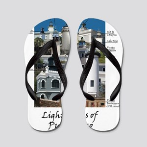 Lighthouses of Puerto Rico Flip Flops