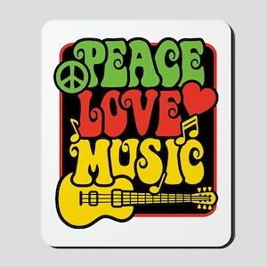 Rasta Peace Love Music Mousepad