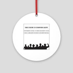Individuality McCarthy Keepsake Ornament (Round)