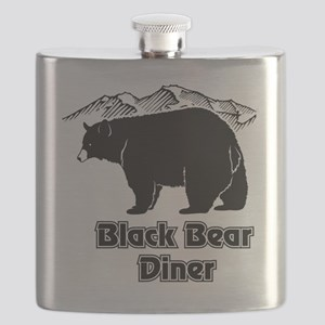 Black Bear Logo Flask