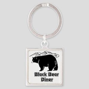 Black Bear Logo Square Keychain