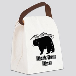 Black Bear Logo Canvas Lunch Bag