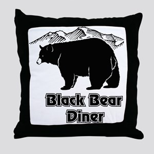 Black Bear Logo Throw Pillow