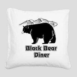Black Bear Logo Square Canvas Pillow