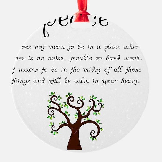 Peace Mantra Ornament