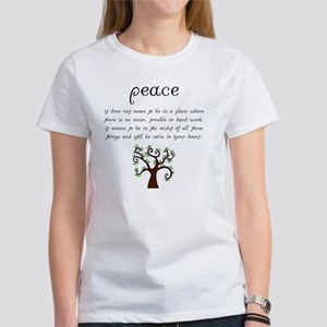 Peace Mantra Women's T-Shirt