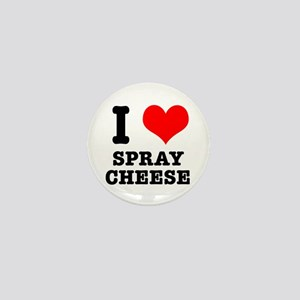 I Heart (Love) Spray Cheese Mini Button