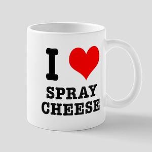 I Heart (Love) Spray Cheese Mug