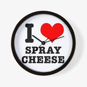 I Heart (Love) Spray Cheese Wall Clock