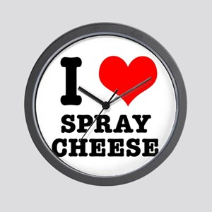 I Heart (Love) Spray Cheese Wall Clock