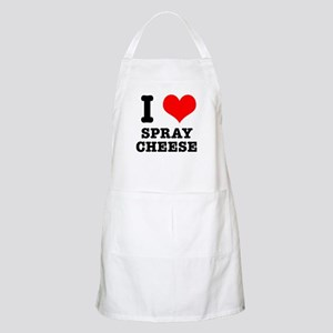 I Heart (Love) Spray Cheese BBQ Apron