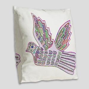 DOVE MOLA DESIGN Burlap Throw Pillow
