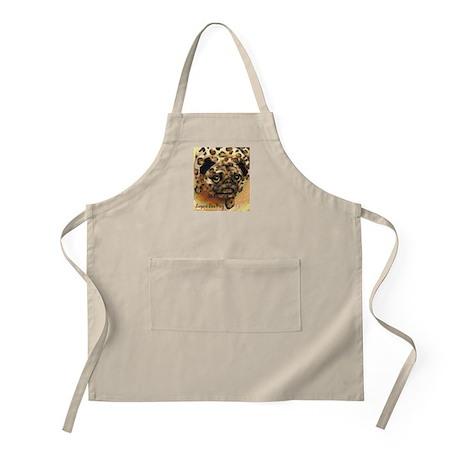 Leopard Skin Pug BBQ Apron