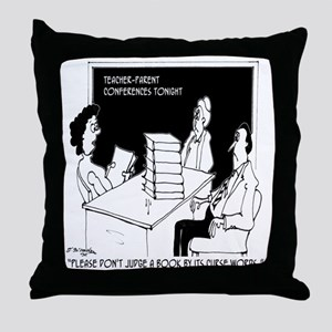 Dont Judge a Book By Its Curse Words Throw Pillow