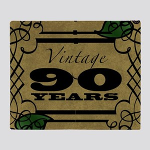 Vintage 90th Birthday (Gold) Throw Blanket
