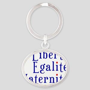 liberté egalité maternité Oval Keychain