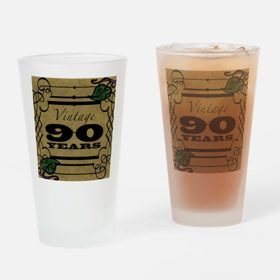 Vintage 90th Birthday (Gold) Drinking Glass
