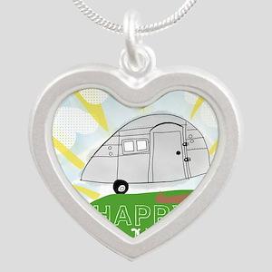Happy Camper Silver Heart Necklace