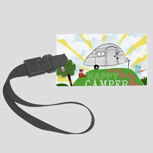 Happy Camper Large Luggage Tag