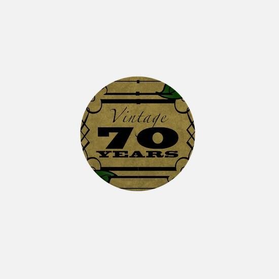 Vintage 70th Birthday (Gold) Mini Button