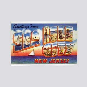 Sea Isle City New Jersey Rectangle Magnet