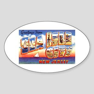 Sea Isle City New Jersey Oval Sticker