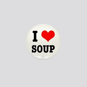 I Heart (Love) Soup Mini Button