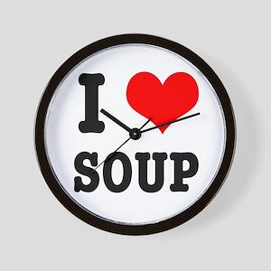 I Heart (Love) Soup Wall Clock