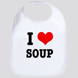 I Heart (Love) Soup Bib