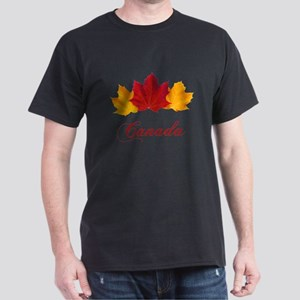 Canadian Maple Leaves Dark T-Shirt