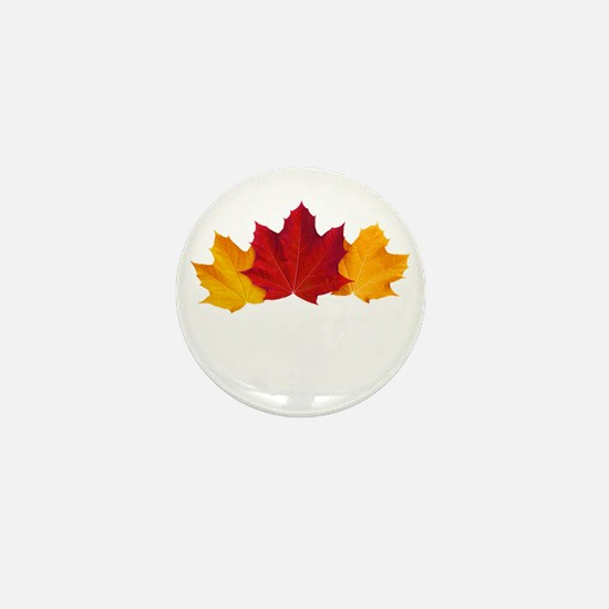 Canadian Maple Leaves Mini Button