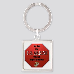 USMC Daughters Square Keychain