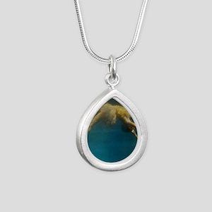 water ballet Silver Teardrop Necklace