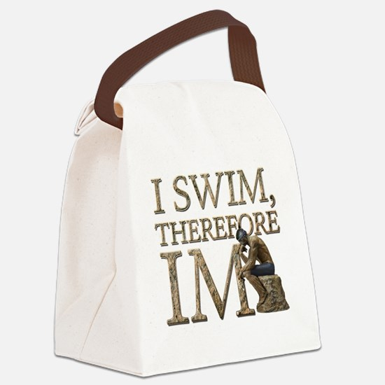 I Swim Therefore IM Canvas Lunch Bag