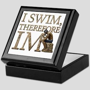 I Swim Therefore IM Keepsake Box