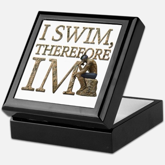 I Swim Therefore IM Keepsake Box