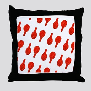 Red I Flip Over Tennis Menagerie Throw Pillow