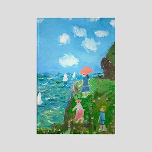 Seurat The Ocean Recreation Rectangle Magnet