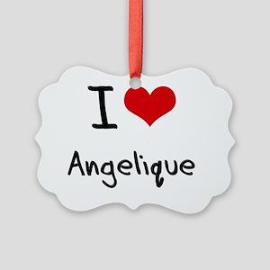 I Love Angelique Picture Ornament