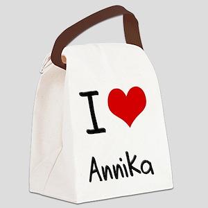 I Love Annika Canvas Lunch Bag