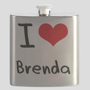 I Love Brenda Flask