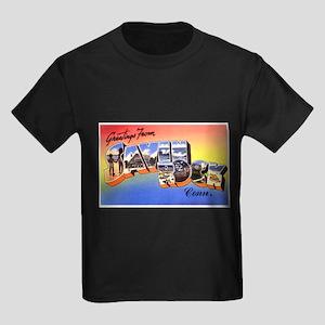 Savin Rock Connecticut (Front) Kids Dark T-Shirt