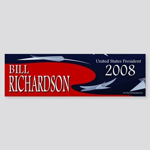 Bill Richardson 3-D Stars Bumper Sticker