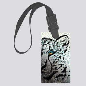 elephant in tiger's eye Large Luggage Tag